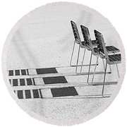 Chairs In The Sun Round Beach Towel