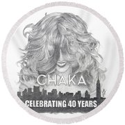 Chaka 40 Years Round Beach Towel