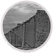 Round Beach Towel featuring the photograph Chambers Bay Architectural Ruins II by Tikvah's Hope