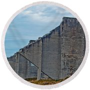 Round Beach Towel featuring the photograph Chambers Bay Architectural Ruins by Tikvah's Hope