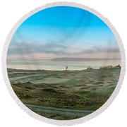 Chambers Bay Panorama Round Beach Towel