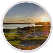 Chambers Bay Sun Flare - 2015 U.s. Open  Round Beach Towel by Chris Anderson