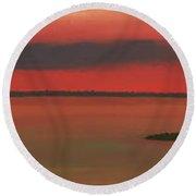 Chambers Island Sunset Round Beach Towel
