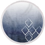 Chambray Ombre Round Beach Towel