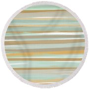 Champagne And Gold Round Beach Towel