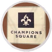 Champions Square Round Beach Towel by Deborah Lacoste