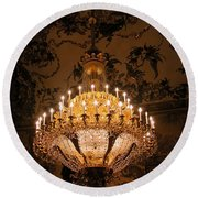 Chandelier Palacio Real Round Beach Towel