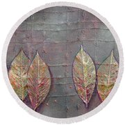 Changing Leaves Round Beach Towel