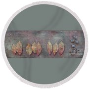 Changing Leaves Round Beach Towel by Phyllis Howard