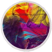 Round Beach Towel featuring the digital art Chaos by Clayton Bruster