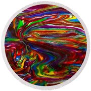 Chaotic Flow Round Beach Towel
