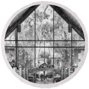 Round Beach Towel featuring the photograph Chapel by Howard Salmon