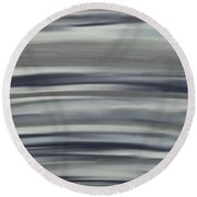 Charcoal And Blue Round Beach Towel