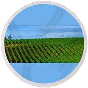 Chardonnay Sky 17990 Round Beach Towel