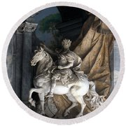 Charlemagne  Round Beach Towel