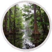 Charleston Swamp Round Beach Towel