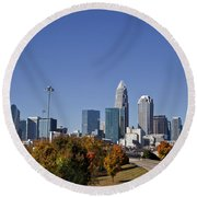 Charlotte North Carolina Round Beach Towel