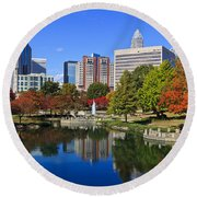 Charlotte North Carolina Marshall Park Round Beach Towel