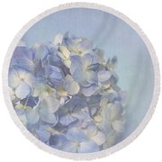Charming Blue Round Beach Towel