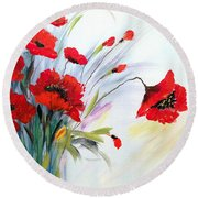 Charming Round Beach Towel by Dorothy Maier