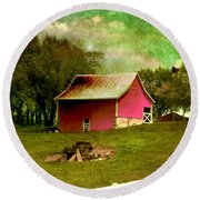 Round Beach Towel featuring the photograph Chartreuse Of Legend by Liane Wright