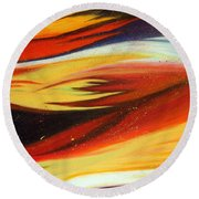 Round Beach Towel featuring the painting Charybdis by Michelle Joseph-Long