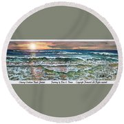 Chasing Chatham Beach Sunsets Round Beach Towel
