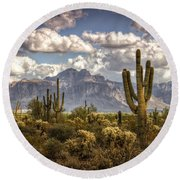 Chasing Clouds Two  Round Beach Towel by Saija  Lehtonen