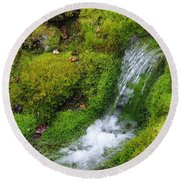 Round Beach Towel featuring the photograph Chasing Waterfalls by Marilyn Wilson