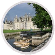 Chateau Chambord Boating Round Beach Towel