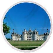 Chateau De Chambord France Round Beach Towel