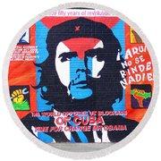 Che Guevara Round Beach Towel by Nina Ficur Feenan