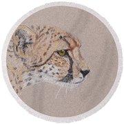 Cheetah Round Beach Towel by Stephanie Grant