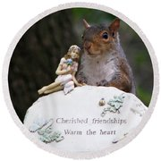 Cherished Friendships Round Beach Towel by John Haldane
