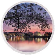 Cherries On The Basin Coda Round Beach Towel