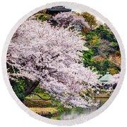 Cherry Blossom 2014 Round Beach Towel