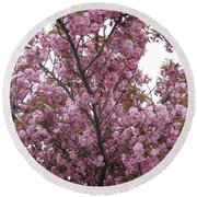 Cherry Blossoms 2 Round Beach Towel
