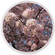Cherry Blossoms For Lana Round Beach Towel by Emmy Marie Vickers