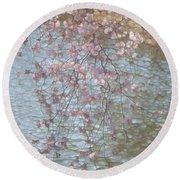 Cherry Blossoms P2 Round Beach Towel