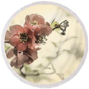 Round Beach Towel featuring the photograph Cherry Blossoms by Peter v Quenter
