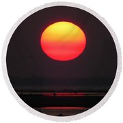 Round Beach Towel featuring the photograph Cherry Drop Sunrise by Dianne Cowen