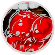 Cherry Lips Round Beach Towel