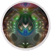 Round Beach Towel featuring the digital art Cherub 5 by Otto Rapp