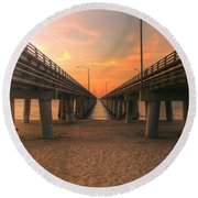 Chesapeake Bay Bridge IIi  Round Beach Towel