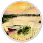 Chesapeake Marsh Round Beach Towel by Melly Terpening