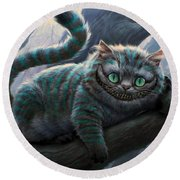 Cheshire Cat Round Beach Towel