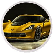 Chevrolet Corvette Z06  Round Beach Towel