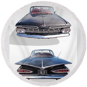 Chevrolet Impala 1959 Front And Rear Round Beach Towel