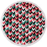 Chevron Round Beach Towel