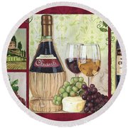 Chianti And Friends 2 Round Beach Towel